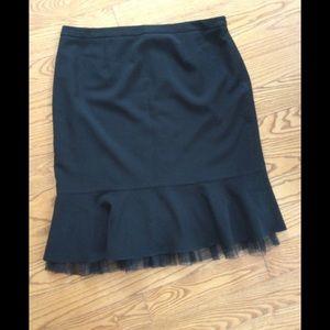 💝2 for $12💝 Knee-length black skirt ruffle hem